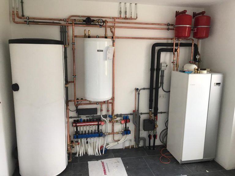 Van Veldhuisen techniek Warmtepomp - 500 liter boiler Nibe brongebonden